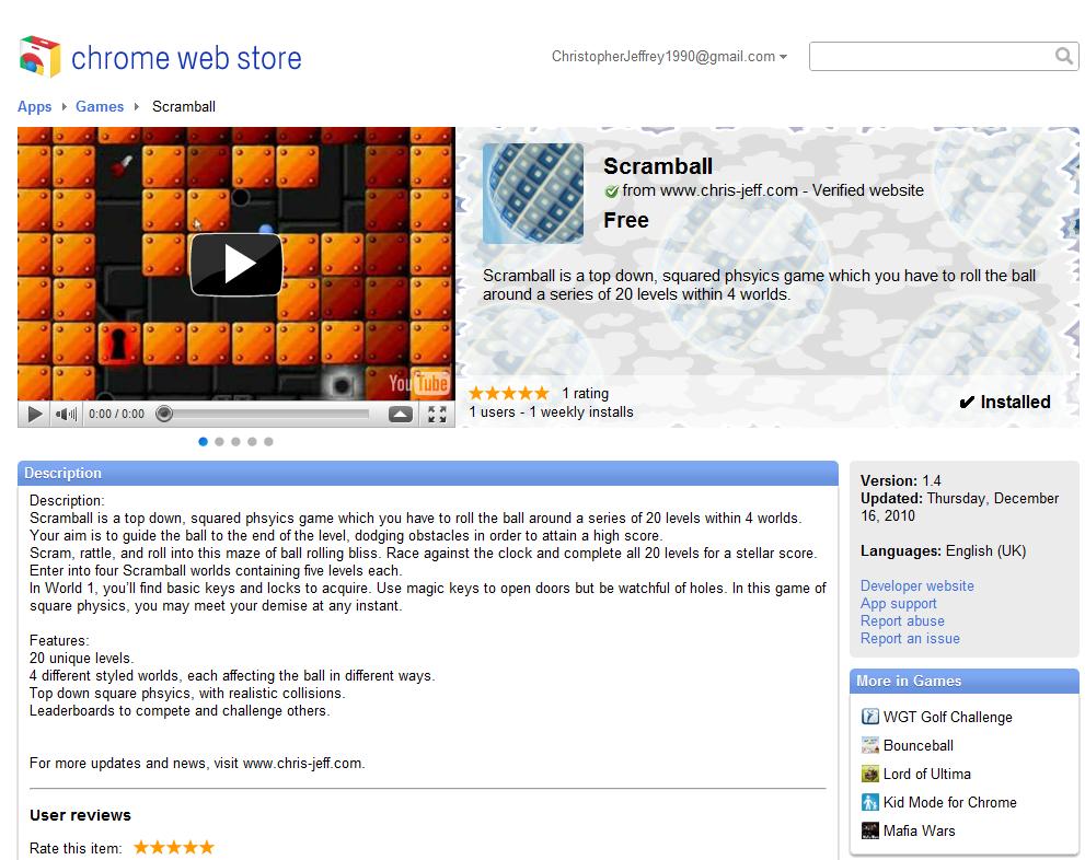 Chrome store!