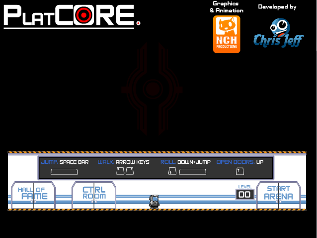 Platcore - Playable menu, run around and have fun on the menu screen, yey
